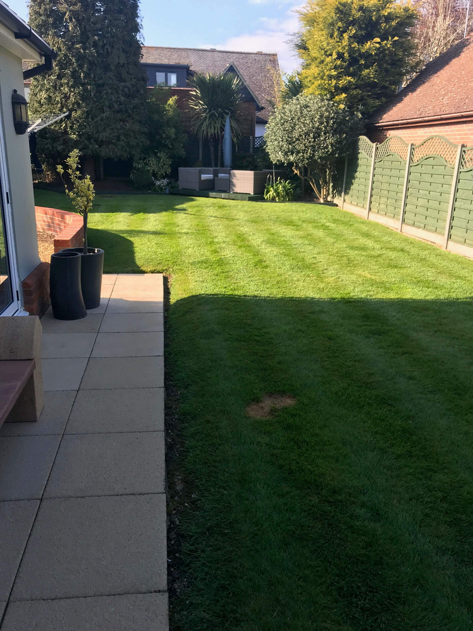 Datchworth Patio before 3 - Hertfordshire Driveways