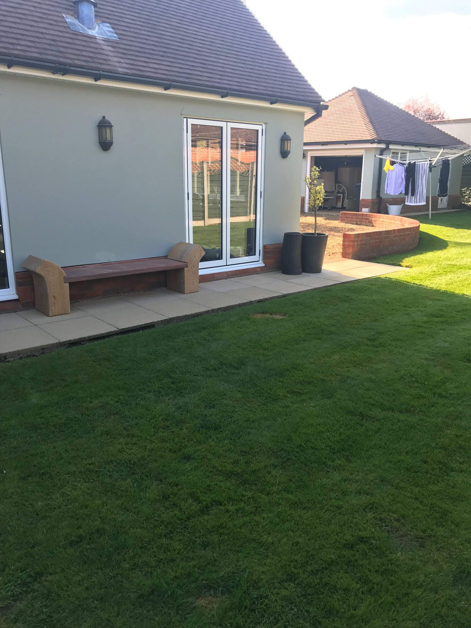 Datchworth Patio before 2 - Hertfordshire Driveways