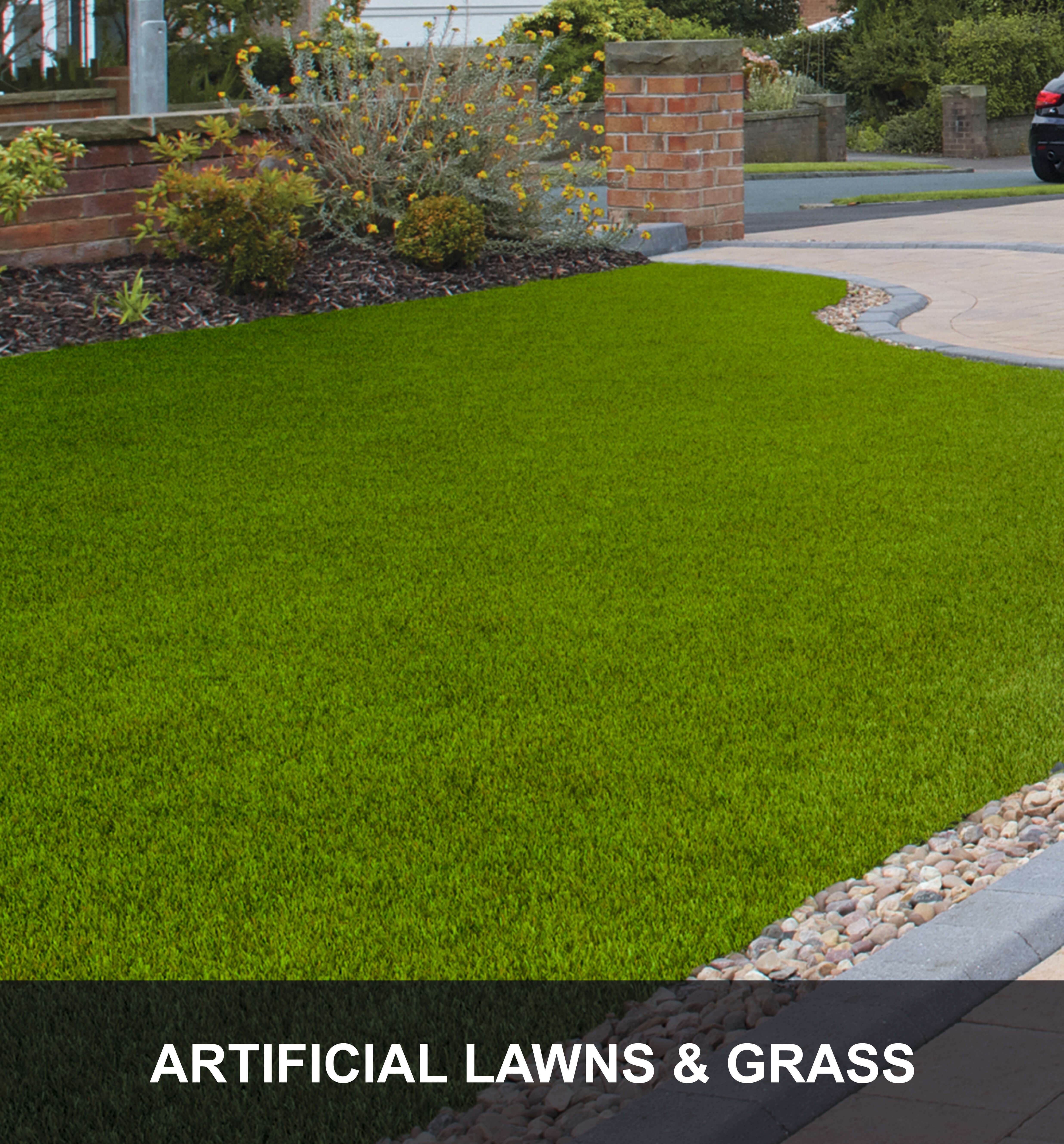 Artificial Lawns Caption