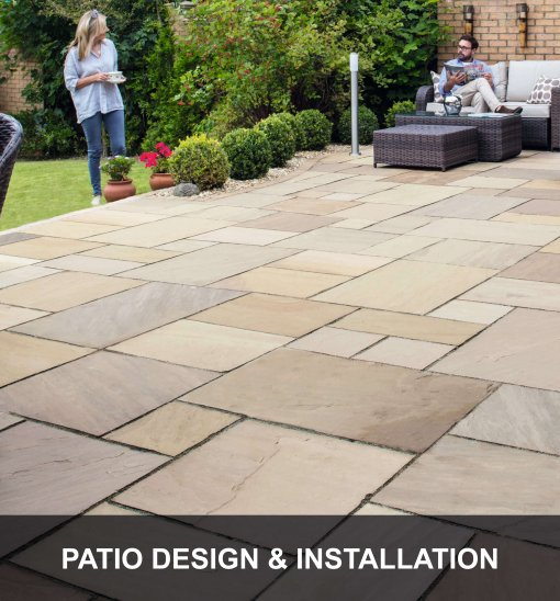 Patio design Caption